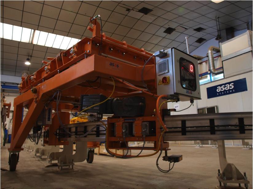 Electrovía invertida de alta velocidad con inducción para cargas pesadas