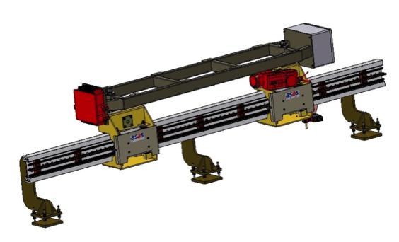 Electrovía invertida de alta velocidad con inducción para cargas ligeras
