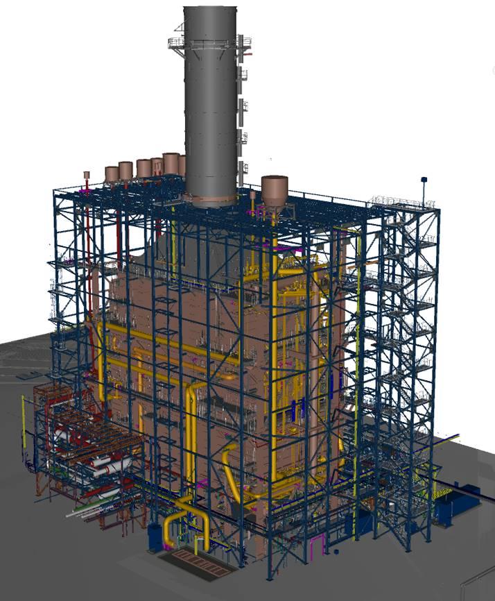 BABCOCK Montajes, empresa del Grupo ISASTUR, realiza en UK el montaje de la mayor Caldera de Recuperación del mundo - HRSG