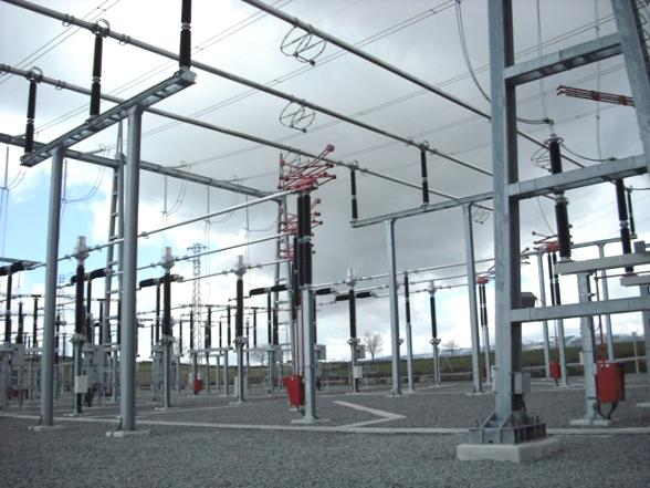 400 kV Electromechanical assembly rooms substation