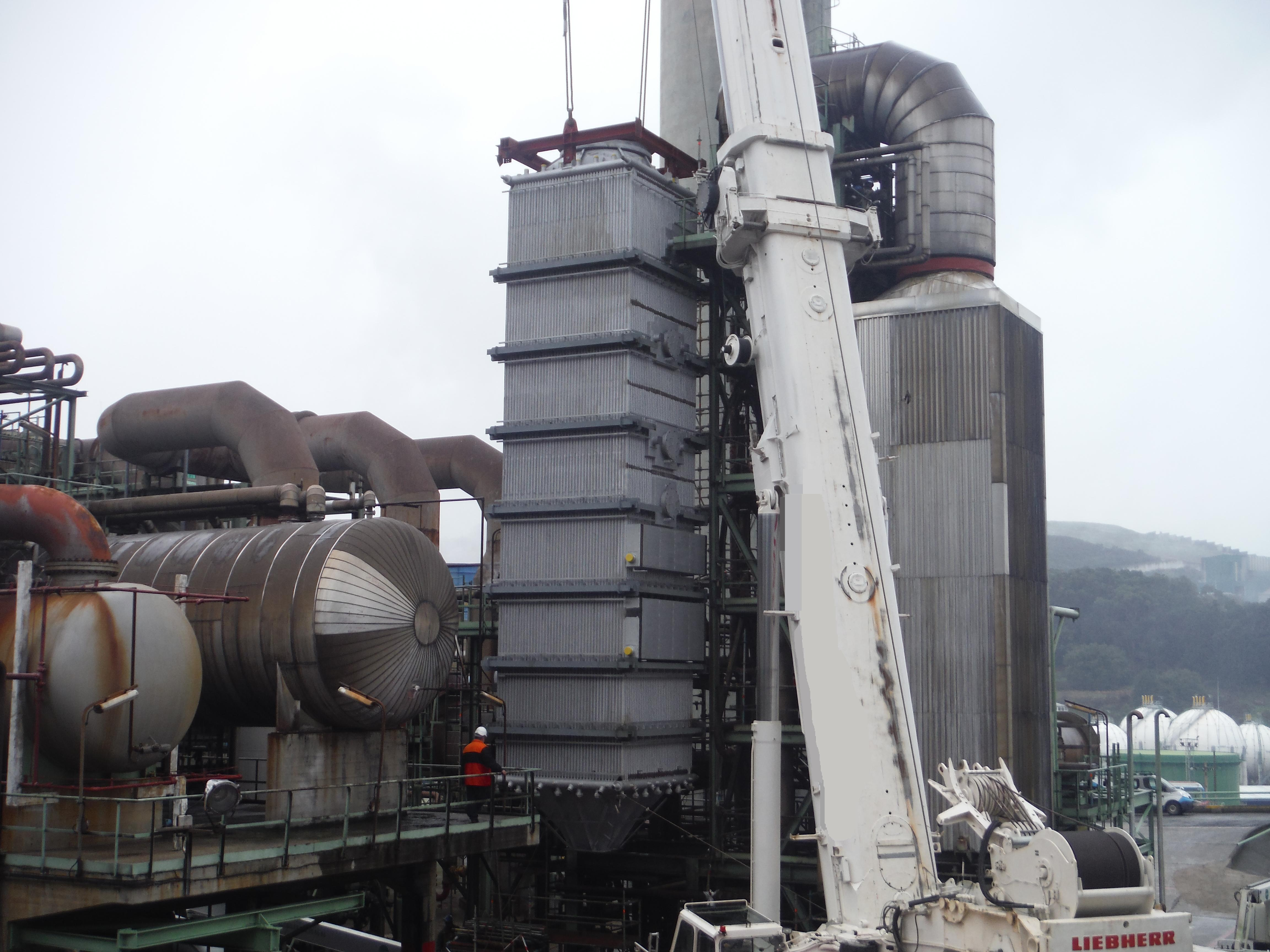 C.I. REPSOL A Coruña - Sustitución Módulo Alta Temperatura Caldera BL-1301 de FCC