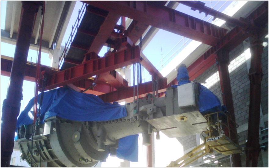 Montaje Mecánico de un Turbogrupo de Vapor GENERAL ELECTRIC SC5 de 114 MW y condensador de 2 cuerpos