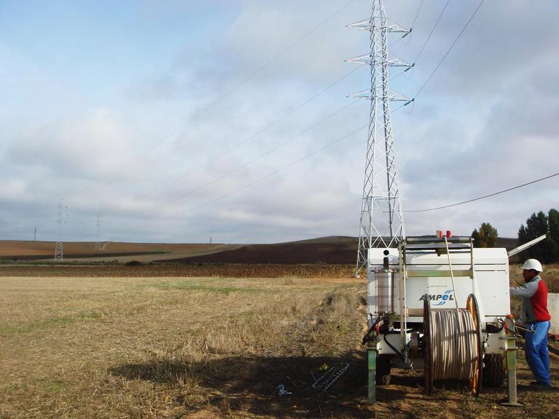Línea 132 kV evacuación planta de tratamiento Almazán