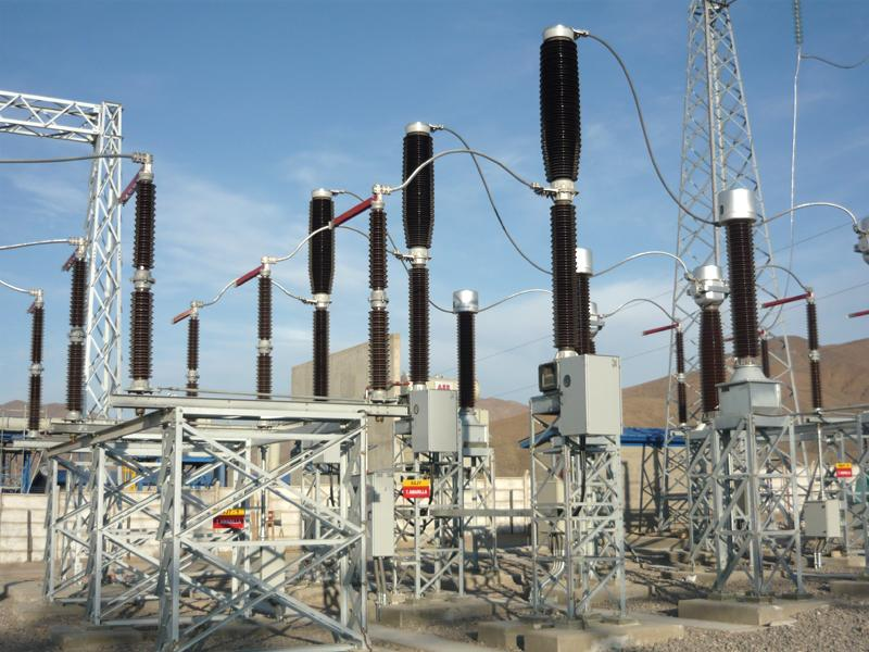 Substation at Tierra Amarilla simple cycle power plant