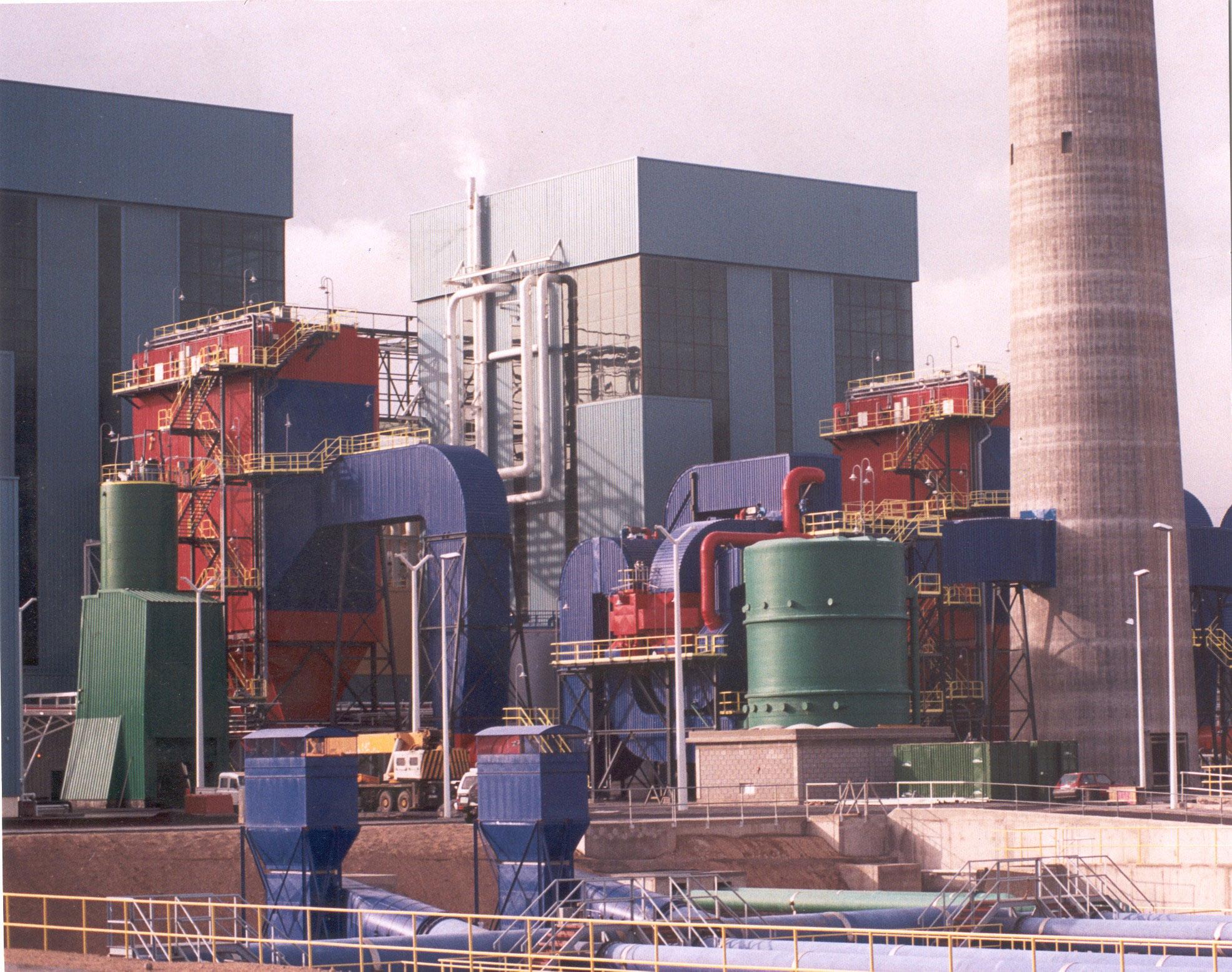 Montaje unidad desulfuradora para C.T. Granadilla