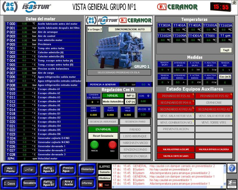 Control system of auxiliary services at cogeneration plant